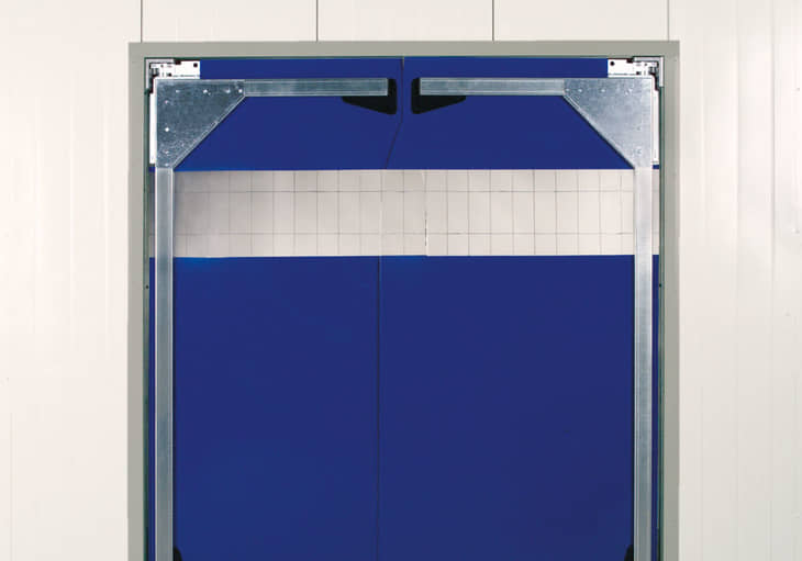 The double-action doors are delivered completely pre-assembled for simple fitting. The size of the door should be twice as wide as and 500 mm higher than ... & Double-action doors| The flexible door solution from Hörmann